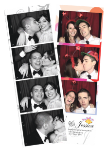 Black Booth photo strips