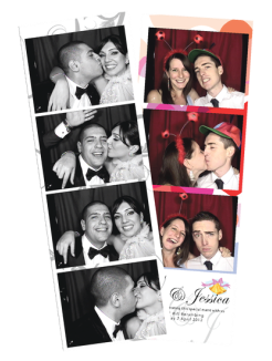 Black Booth Photo Strip
